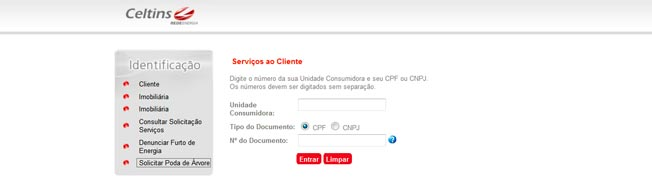Serviço Online de Emissão da 2 Via Celtins Pela Internet