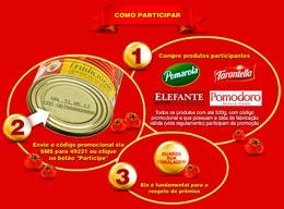 Enviar Codigo da Promoção Tomate Mania