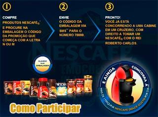 Participe da Promoção Nescafé 2011 com Roberto Carlos e Emoções em Alto Mar