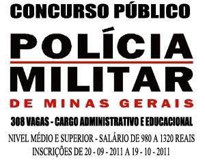 Concurso PMMG 2011 Nível Médio e Superior