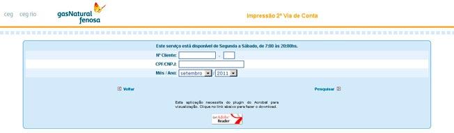 Fatura Online - 2ª Via Ceg Rio e Ceg SP