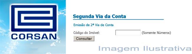 Serviços Online 2a Via de Conta Corsan