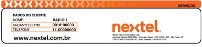 NEXTEL 2 VIA, localize o Fleet para solicitar a 2 via Nextel
