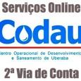 Serviços online Codau para  emitir 2 via de conta,  consultar débitos, telefone de atendimento e outras informações sobre serviços Codau 2 via.