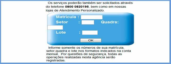 Acesso aos serviços online para fazer a impressão da 2 via de conta, consultar débitos e faturas CASAL
