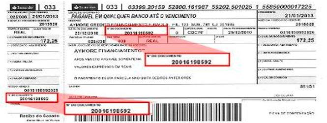 Onde localizar o Número do Contrato Santander Financiamentos