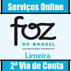 Consulte informações e serviços online Foz do Brasil Limeira/SP. Solicite online sua 2 via de conta