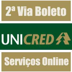Serviços online Unicred - 2 Via Boleto