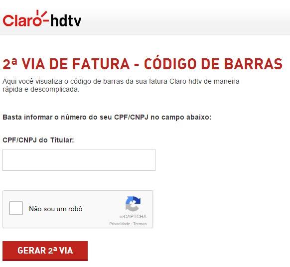 Serviços Pela Internet da claro TV Via Embratel