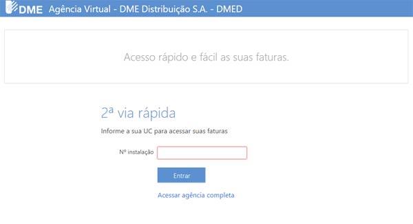Consultas e Serviços Online DME Poços de Caldas – 2a Via da Conta e Informações