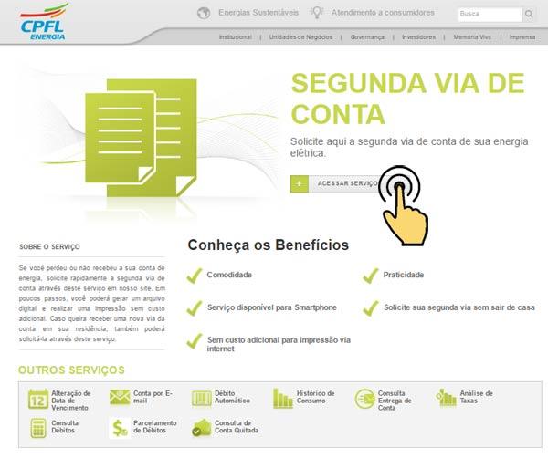 Agência Virtual CPFL Jaguari Para Emissão da 2ª Segunda Via de Conta