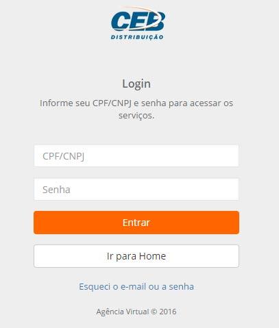 CEB Agência Online Serviços e 2a Via da Conta