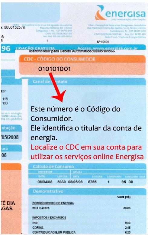 Localizar CDC Para Solicitar a 2 Via de Conta Energisa Cataguases Leopoldina MG